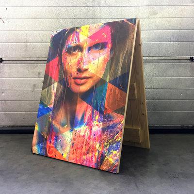 houten Stoepbord print